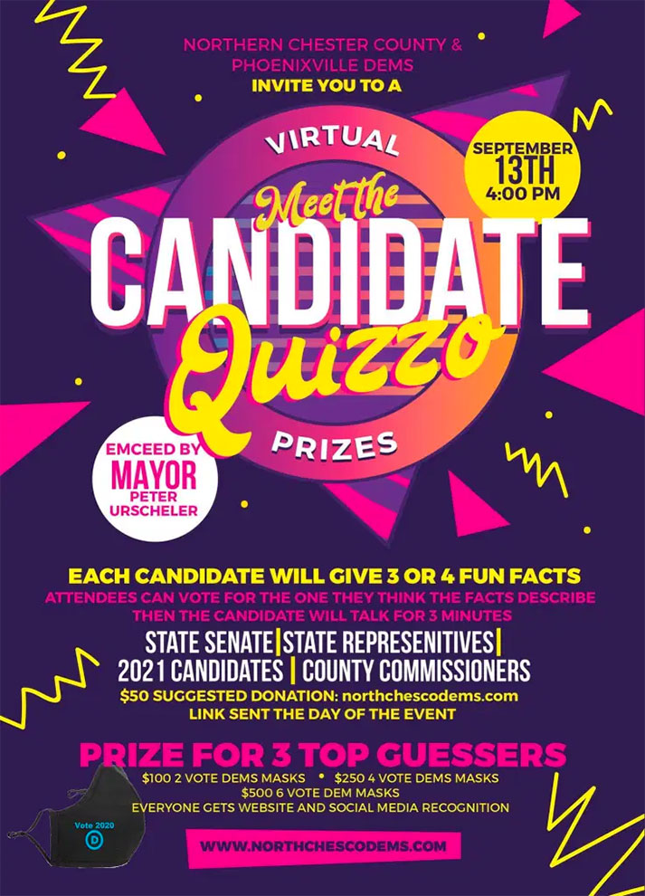 Candidate Quizzo fundraiser