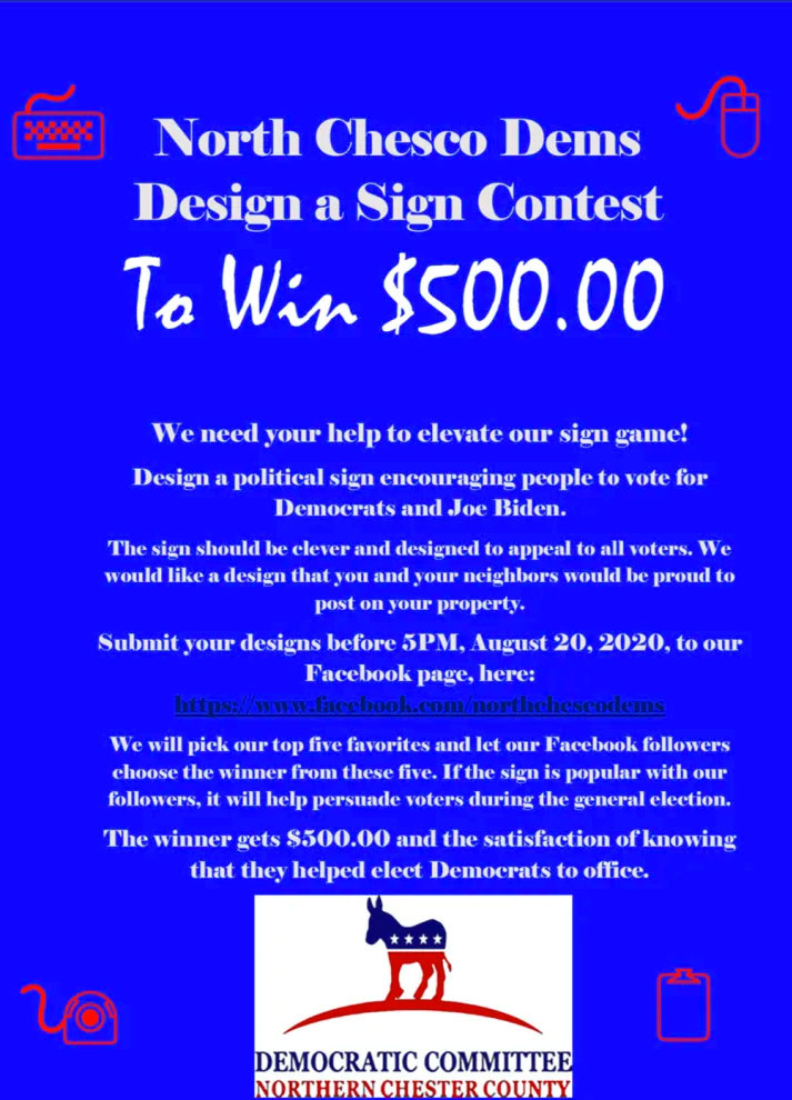 Win $500 sign contest